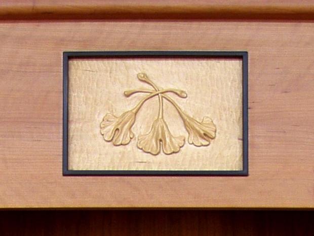 Ginkgo Cabinet by Tom Lederer, detail 1