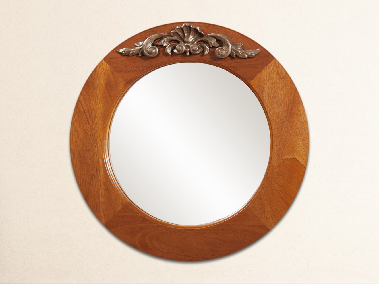Scroll Carving Mirror