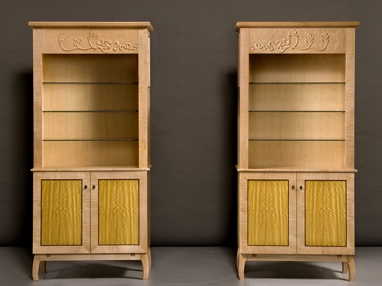 Twin Display Cabinet, by Tom Lederer
