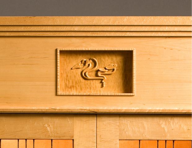 Water Lily Cabinet by Tom Lederer, detail 2