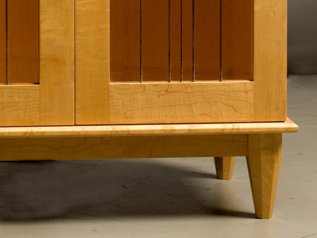 Water Lily Cabinet, base detail, by Tom Lederer